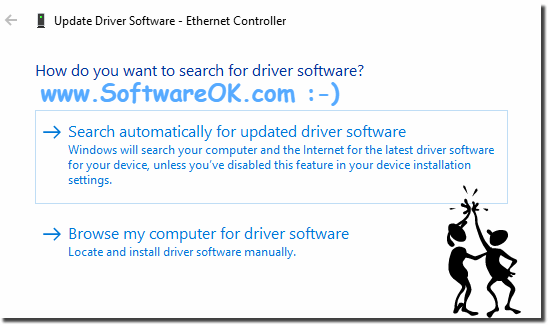 Update The driver Software via Device-Manager!