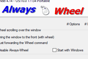 Mouse wheel over any inactive window. So you save a couple of clicks.