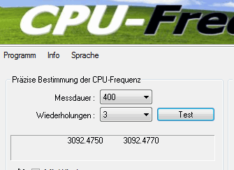 Small tool to accurately identify the CPU frequency. The PC is slow! Is it the C