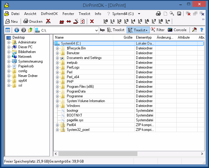 Easy to print the content of a directory list