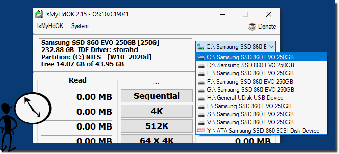 Easily check  Volume, Partition on HDD, SSD, ...!