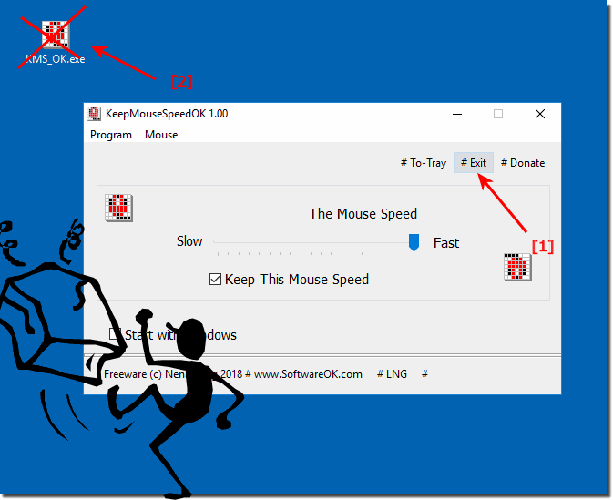 Uninstall KeepMouseSpeedOK from Windows!