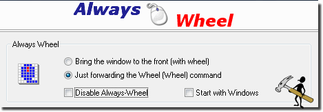 Start Always Mouse Wheel minimized in Tray!
