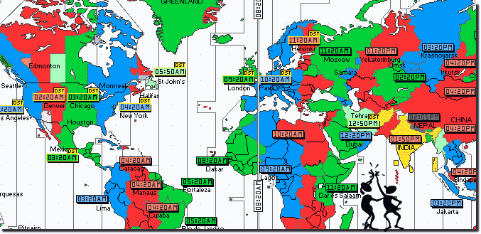 The time zones!