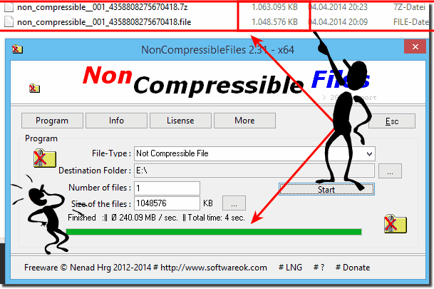 Compress the non compressible files with 7-zip!