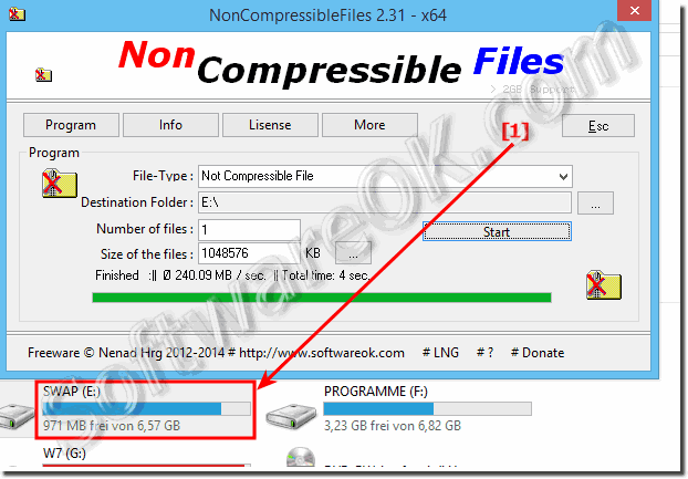 File size Limitations of non compressible file!