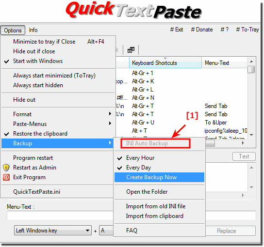 Auto Backup Feature Title in QuickTextPaste!