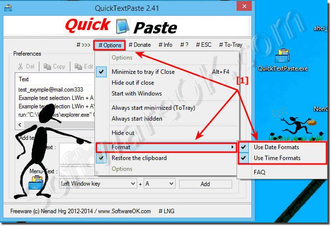 Date Time Format for Windows in Quick-Text-Paste!
