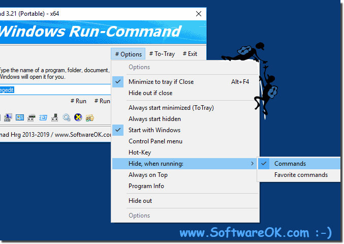 Hide Run-Command when running commands!