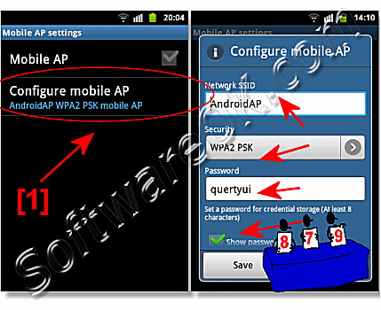 Configure Mobile Android Password on Samsung-Galaxy