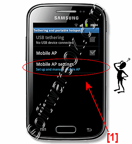 Mobile AP Settings on Samsung-Galaxy