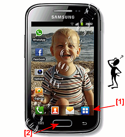Open  on Samsung Galaxy the applications (apps)!