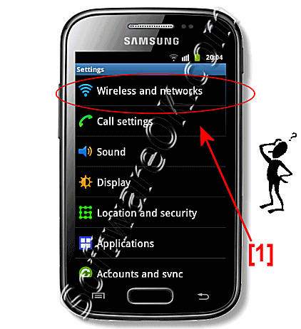 Settings Wireless and Networks Samsung-Galaxy!