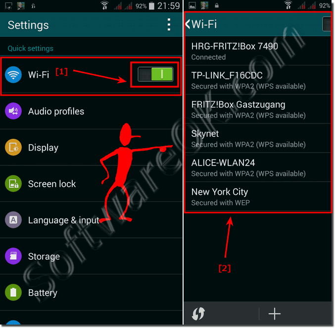 Wi-Fi settings Samsung Galaxy!