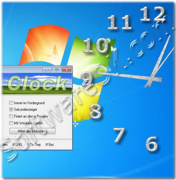 A desktop clock  suitable for Windows 7 and Windows 8 and other Windows NT Systems