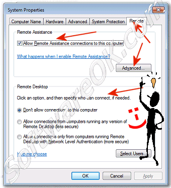 change settings for Remote Desktop in Windows-7