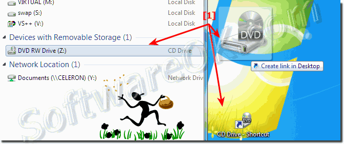 Eject the CD or DVD Drive via the Desktop Context Menu in Windows 7 or 8.1!