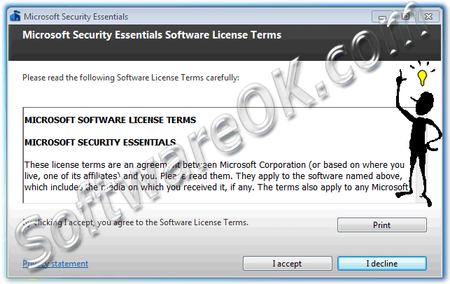 Microsoft Security Essentials Software License Terms