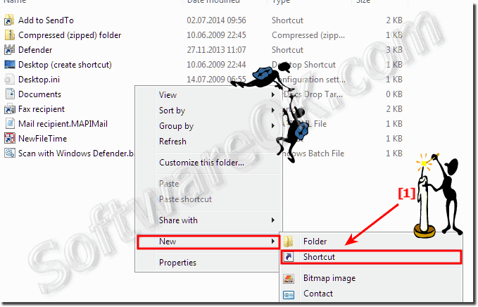 Program ShortCut in Send-To menu Windows 7-8.1!