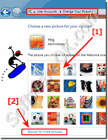 Select or Browse for new Account Picture in Windows-7