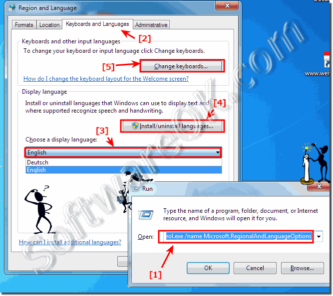 Switch Language in Windows-7 or change or install!