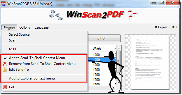 Add PDFs pages from MS Explorer menu!