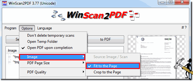Aspect ratio when scanning a PDF page!