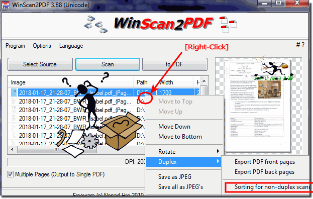 sorting non duplex PDF scanning and printing!