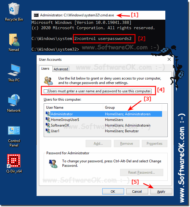 Autologin in windows 10 without password!