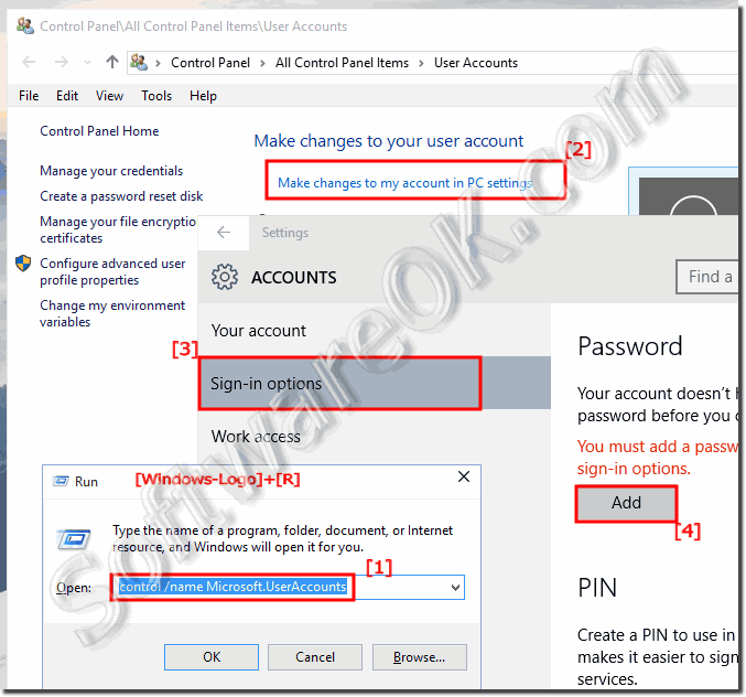 Create a password for Windows-10!