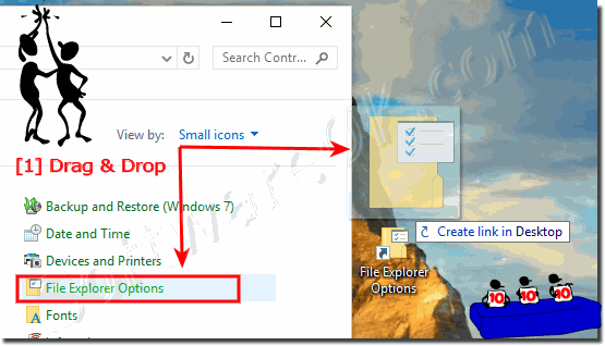 Folder-Options Windows-10-Desktop-Shortcut!