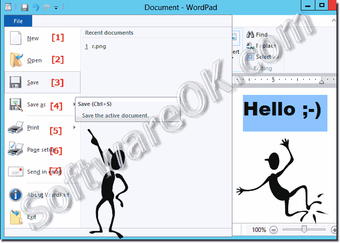 Save New Open in Word-Pad a Document!