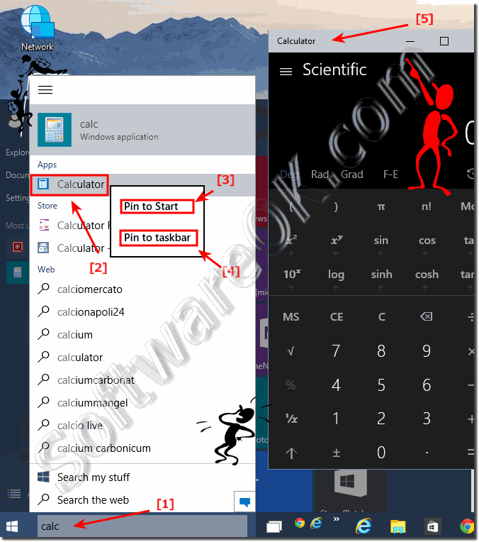 The Default calculator in Windows 10!