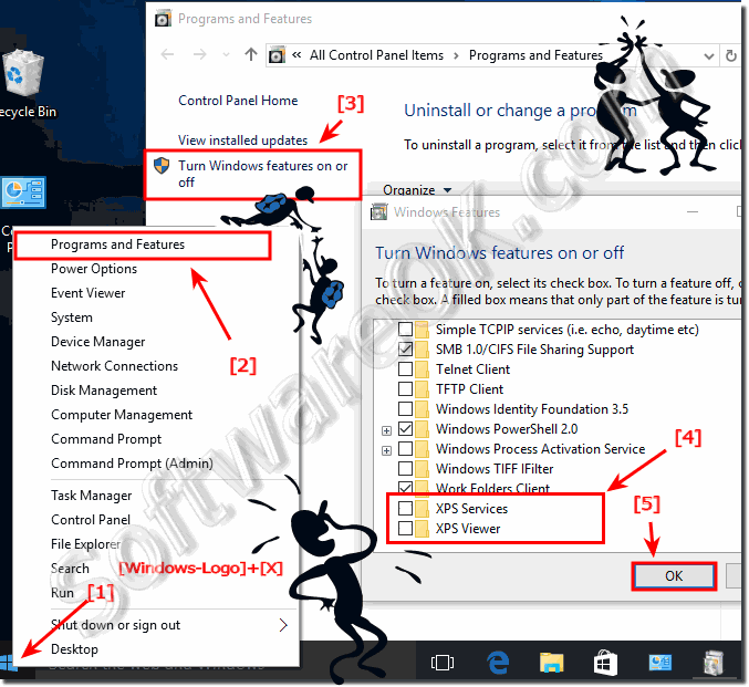 Uninstall XPS Viewer and Printer in Windows 10!
