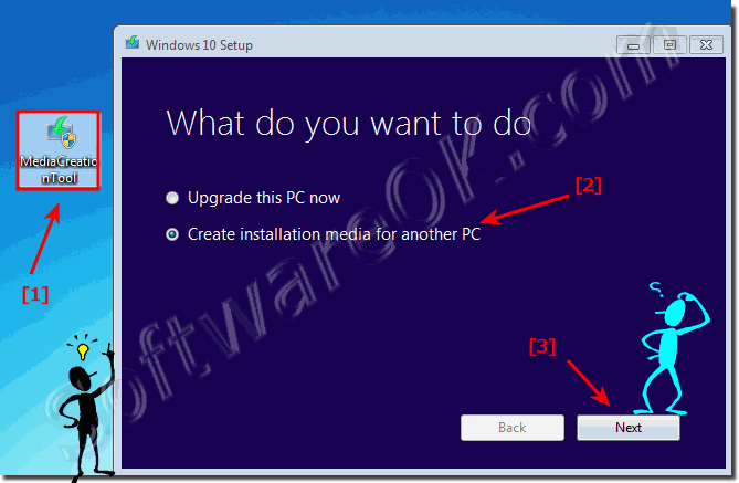 Upgrade to Windows 10  or create installation Media!