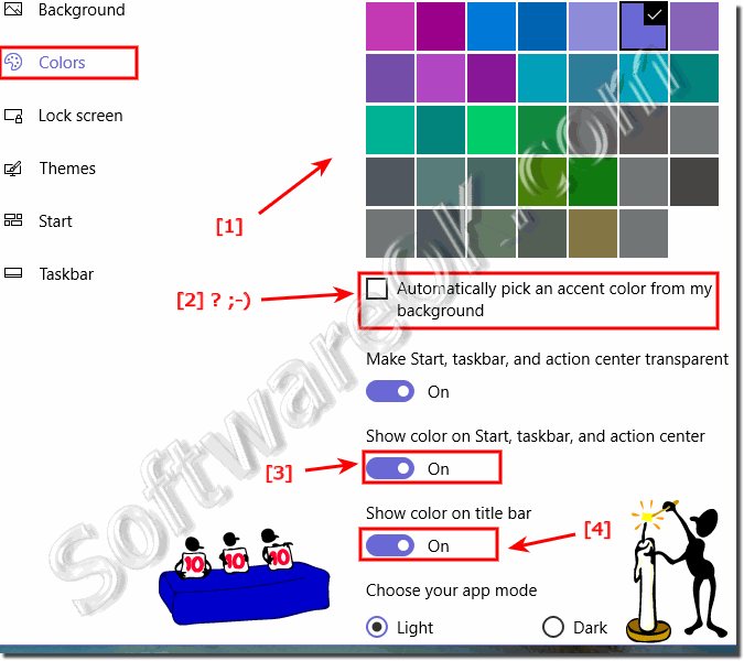 Windows-10 Enable of the Color for Windows-Title-Bar!