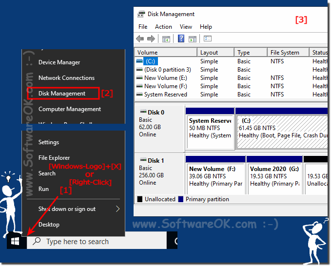 disks partitions on Windows-10 in Disk-Manager!