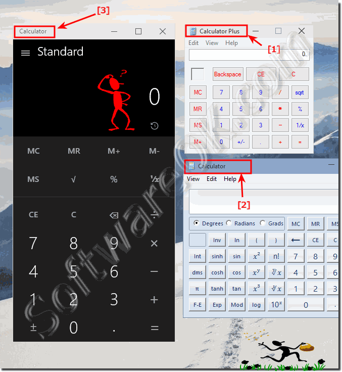 three calculators for Windows 10!