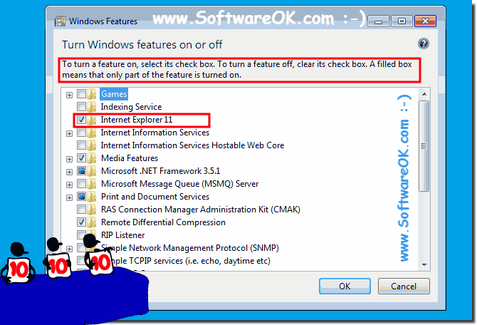Enable Disable Windows Features in Windows 7!