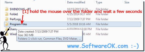 See the folders size in Explorer Tooltip!
