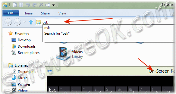 Call the On-Screen Keyboard over Windows-8 Explorer