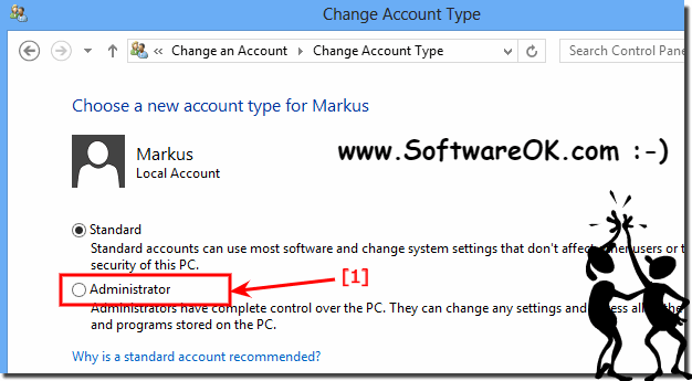 Change Account Type in Windows 8 (user)