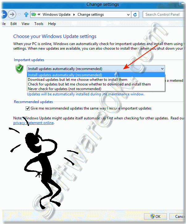 Change Windows-8 Update settings