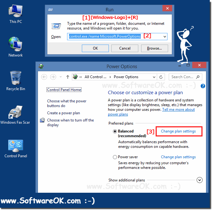 Change Windows-8 power settings