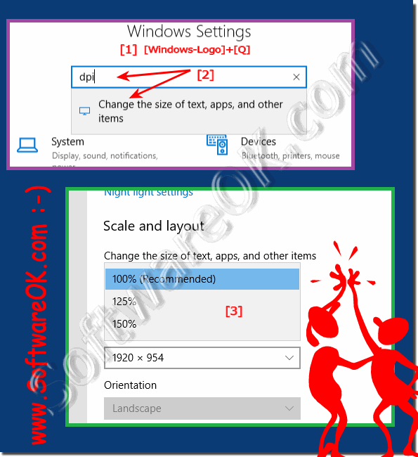 Change font size and font type for programs in Windows 10!
