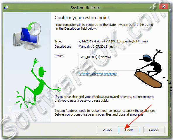 Confirm the Windows-8 Restore Point