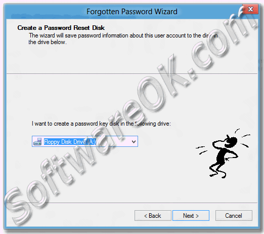 Create a password reset disk for Windows-8