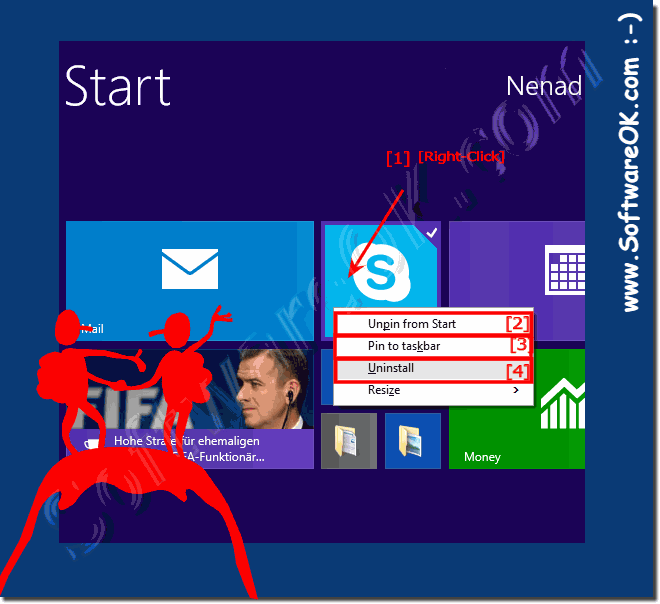 Delete eg. uninstall Windows 8 App's (applications)