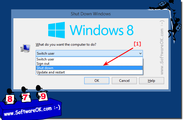 Shut Down Windows Dialog Box in Windows-8!