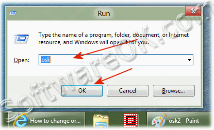 Start the On-Screen Keyboard over Windows-8 RUN